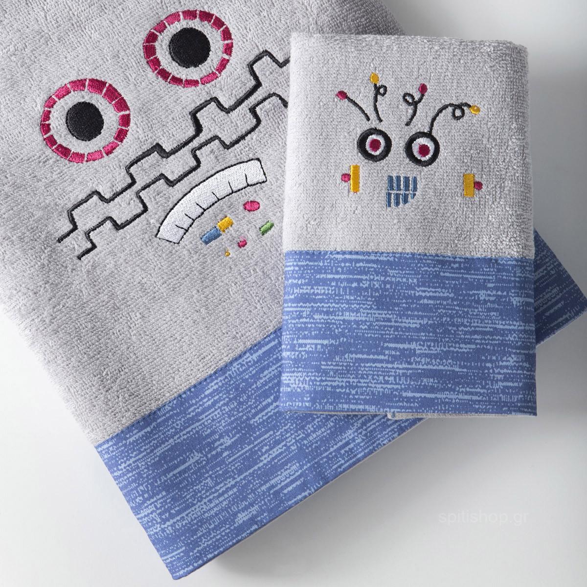 Βρεφικές Πετσέτες (Σετ 2τμχ) Nima Baby Robo-Tiny