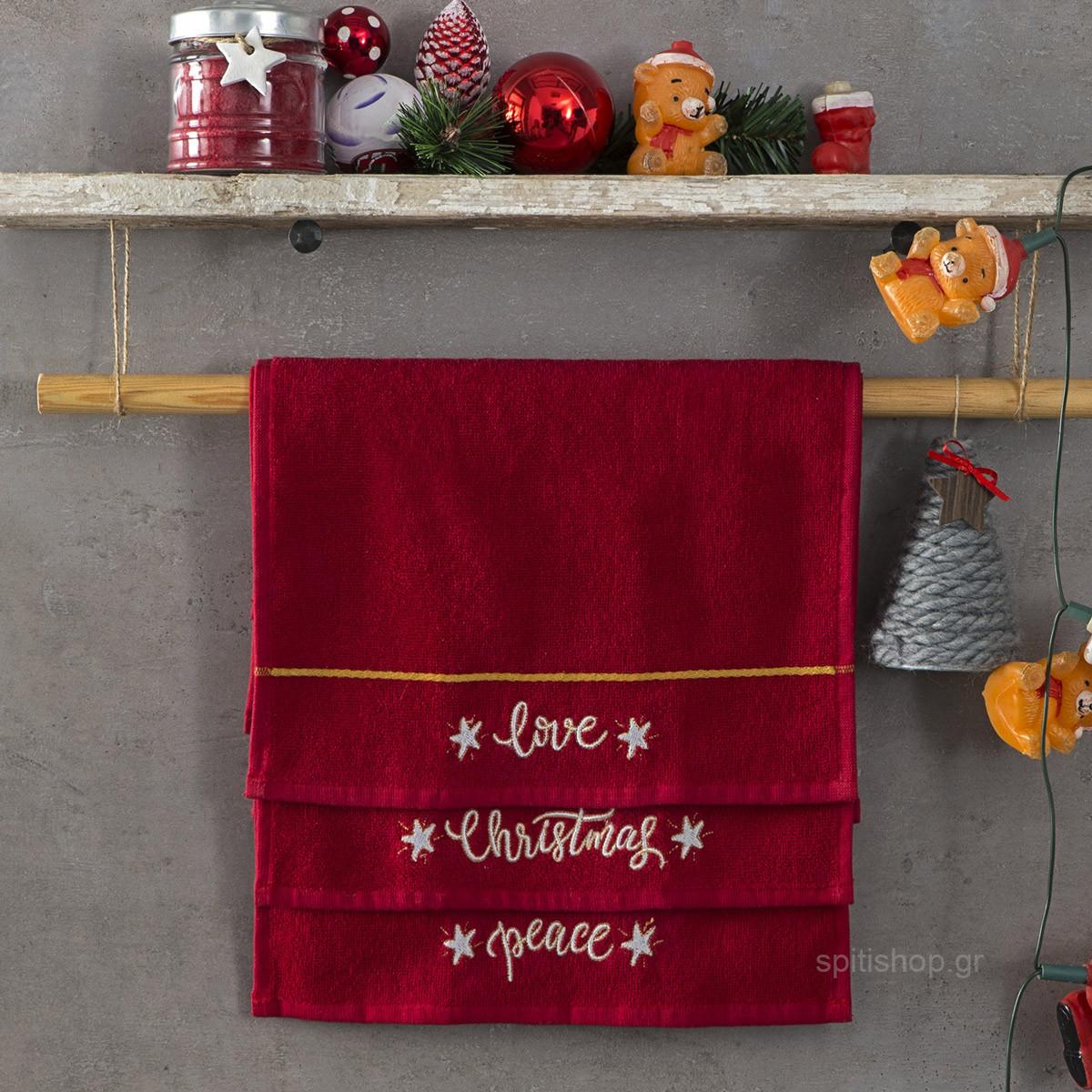 Χριστουγεννιάτικες Πετσέτες (Σετ 3τμχ) Nima Carols home   χριστουγεννιάτικα   χριστουγεννιάτικα είδη μπάνιου