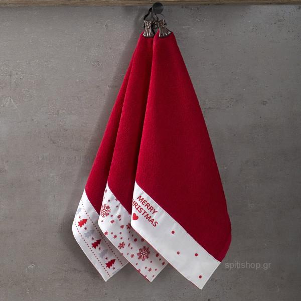 Χριστουγεννιάτικες Πετσέτες (Σετ 3τμχ) Nima Yule