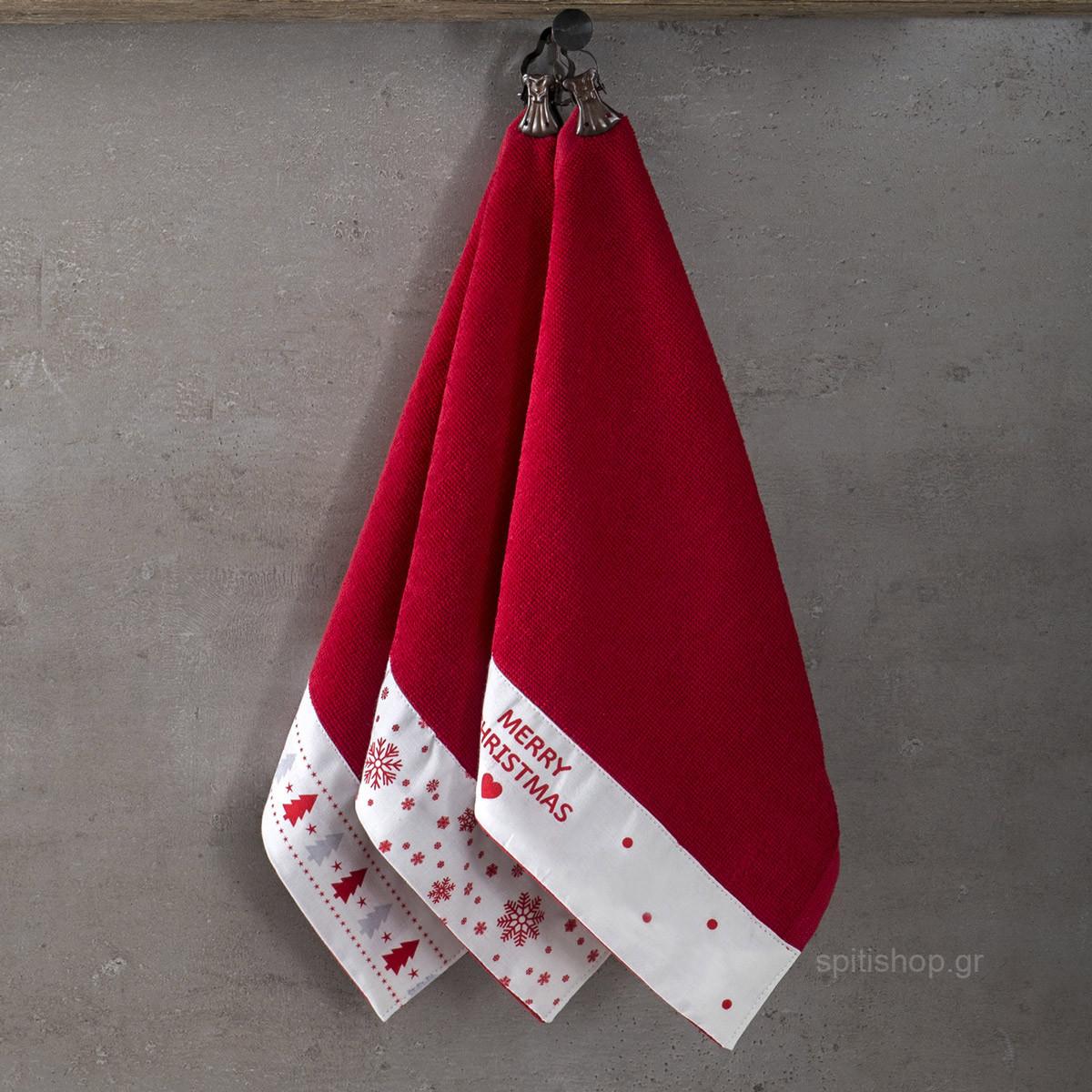Χριστουγεννιάτικες Πετσέτες (Σετ 3τμχ) Nima Yule home   χριστουγεννιάτικα   χριστουγεννιάτικα είδη μπάνιου
