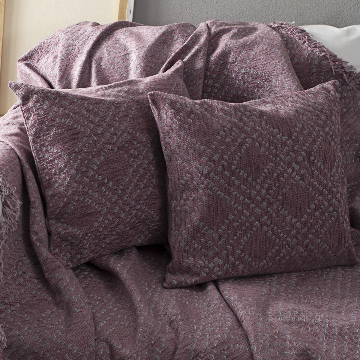 Διακοσμητικό Μαξιλάρι Nima Throws Figure Lilac