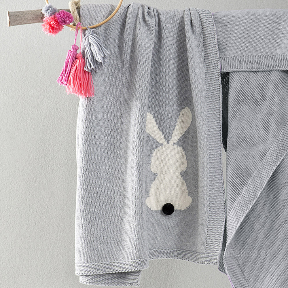 Κουβέρτα Πλεκτή Αγκαλιάς Nima Baby Honey Bunny Grey