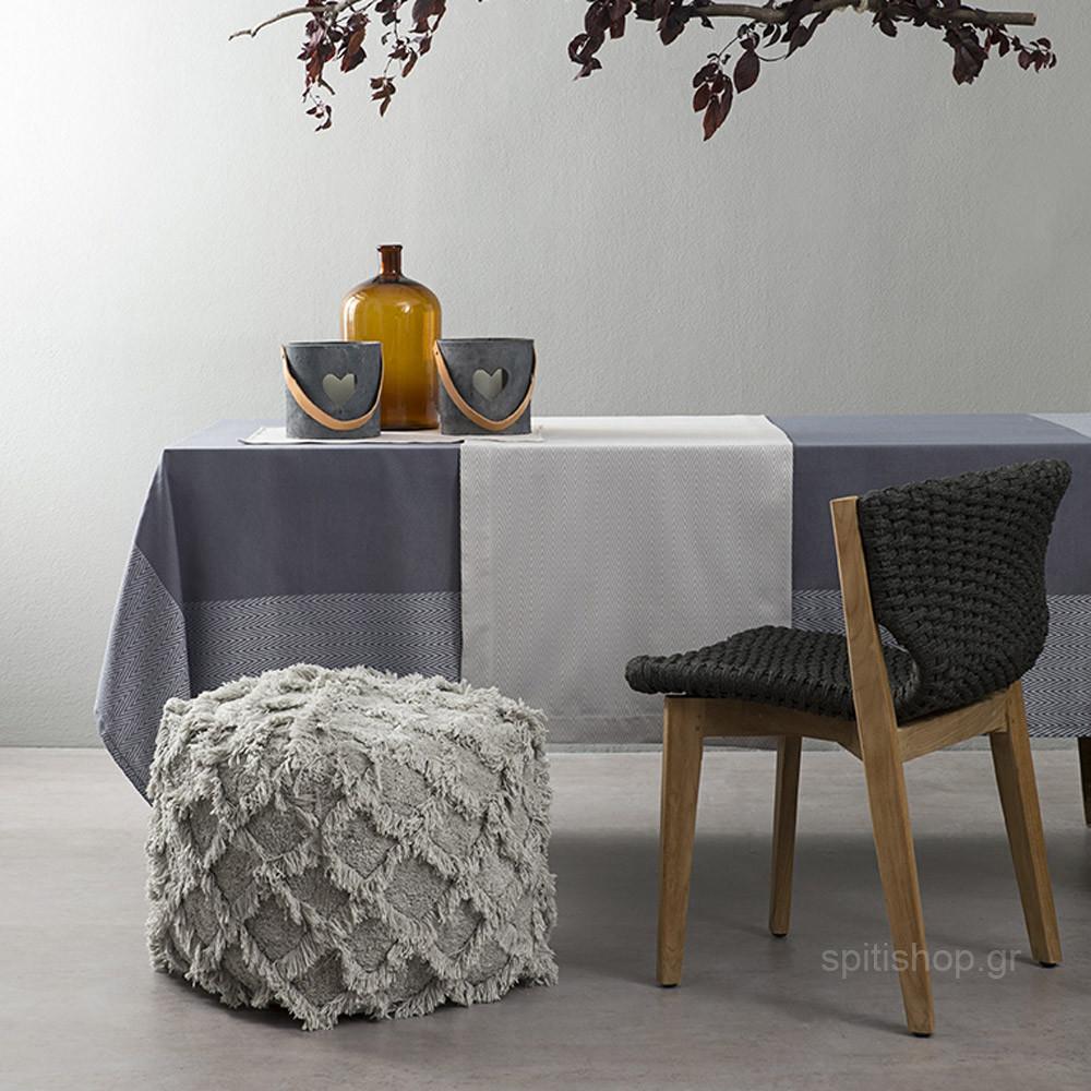 Τραπεζομάντηλο (165×265) Nima Table Linen Vogue Dark Grey
