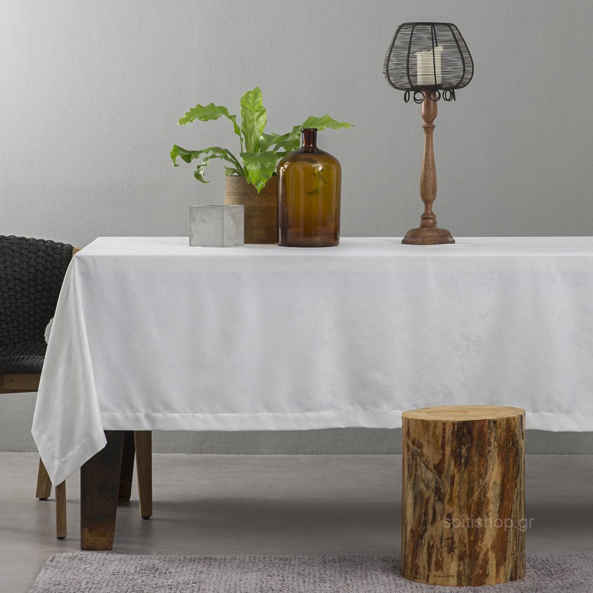 Τραπεζομάντηλο (165×265) Nima Table Linen Peonia Off White
