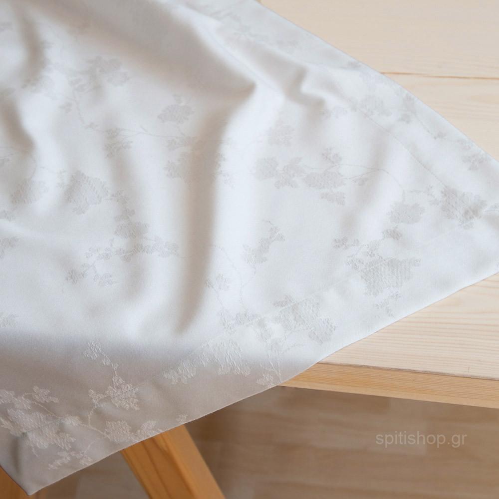 Τραβέρσα Nima Table Linen Peonia Off White