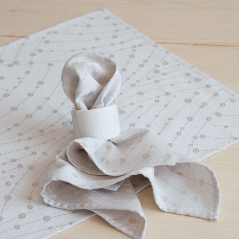 Πετσέτες Φαγητού (Σετ 4τμχ) Nima Table Linen Allure Ivory