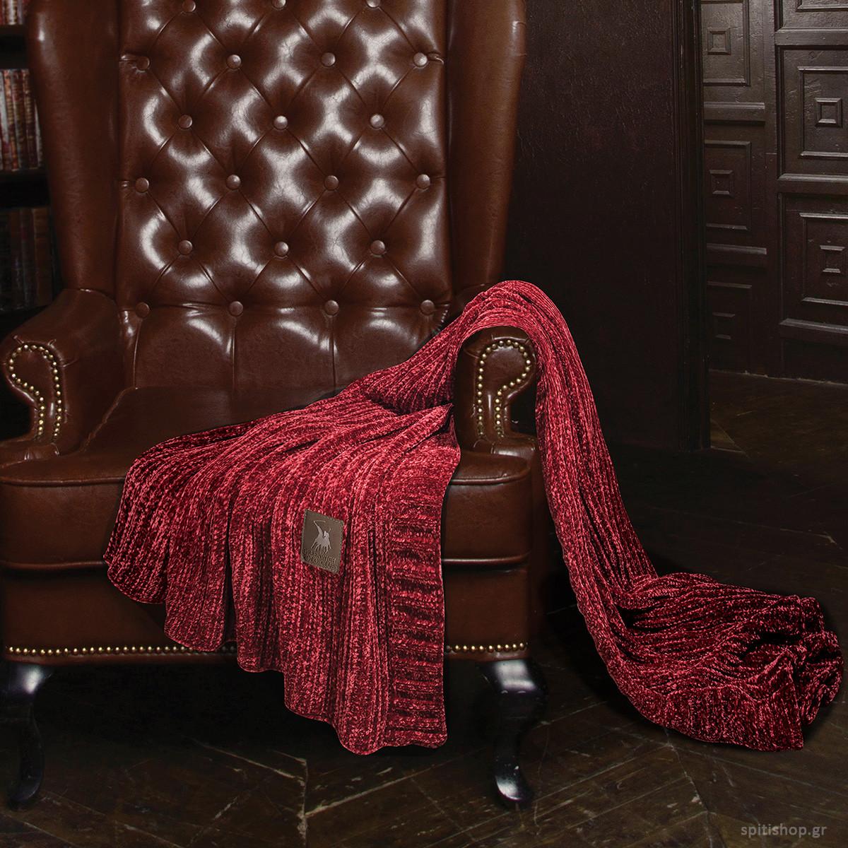 Κουβέρτα Καναπέ Πλεκτή Polo Club Premium Chenille 2422