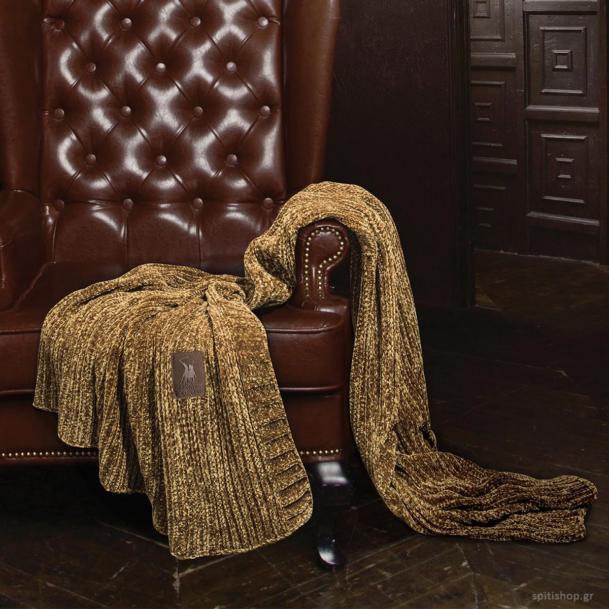 Κουβέρτα Καναπέ Πλεκτή Polo Club Premium Chenille 2423