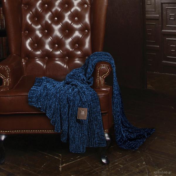 Κουβέρτα Καναπέ Πλεκτή Polo Club Premium Chenille 2424