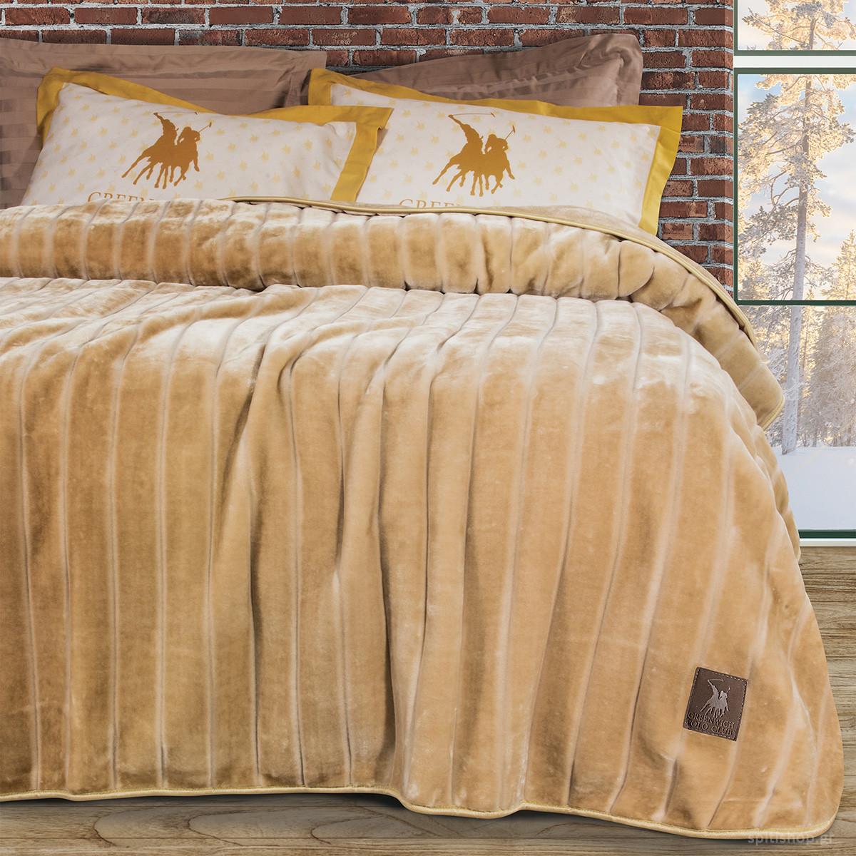 Κουβέρτα Βελουτέ Υπέρδιπλη Polo Club Essential Blanket 2426