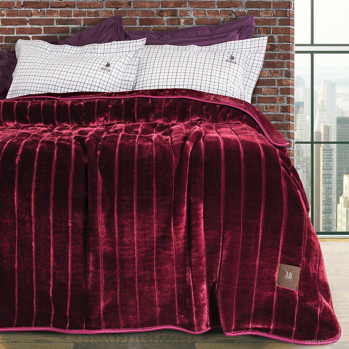 Κουβέρτα Βελουτέ Υπέρδιπλη Polo Club Essential Blanket 2427