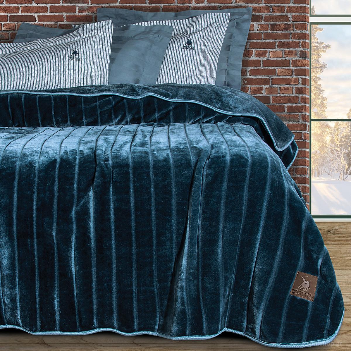 Κουβέρτα Βελουτέ Υπέρδιπλη Polo Club Essential Blanket 2428
