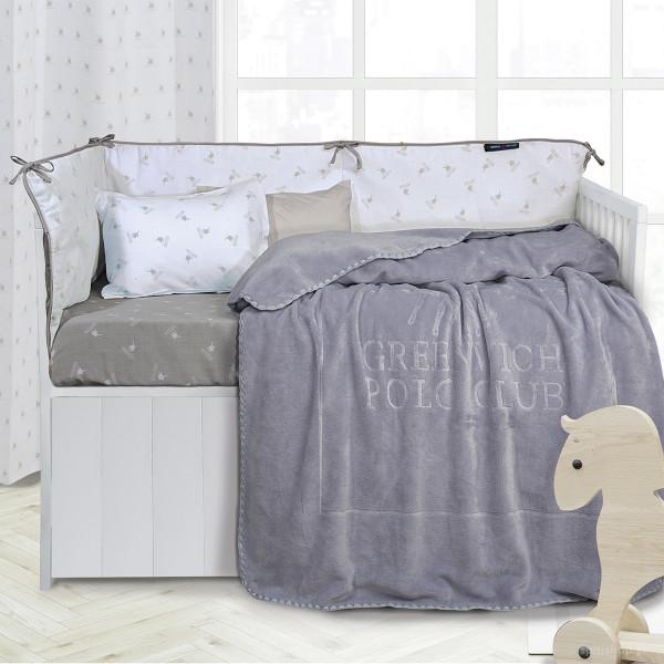 Κουβέρτα Fleece Κούνιας Polo Club Essential Baby 2953