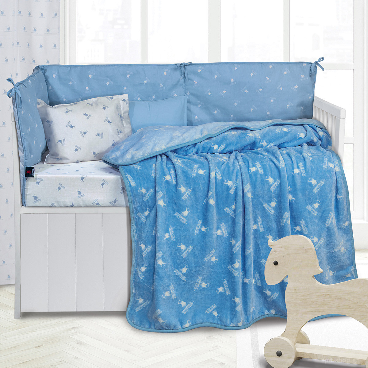 Κουβέρτα Fleece Κούνιας Polo Club Essential Baby 2948