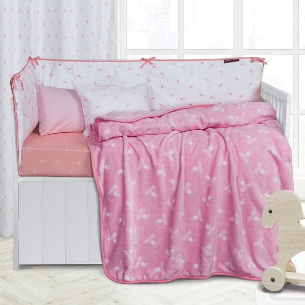 Κουβέρτα Fleece Κούνιας Polo Club Essential Baby 2949