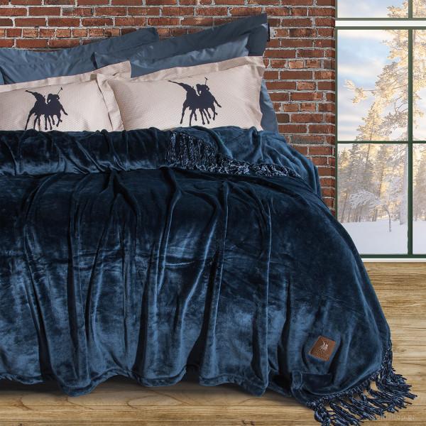 Κουβέρτα Fleece Υπέρδιπλη Polo Club Essential Blanket 2430