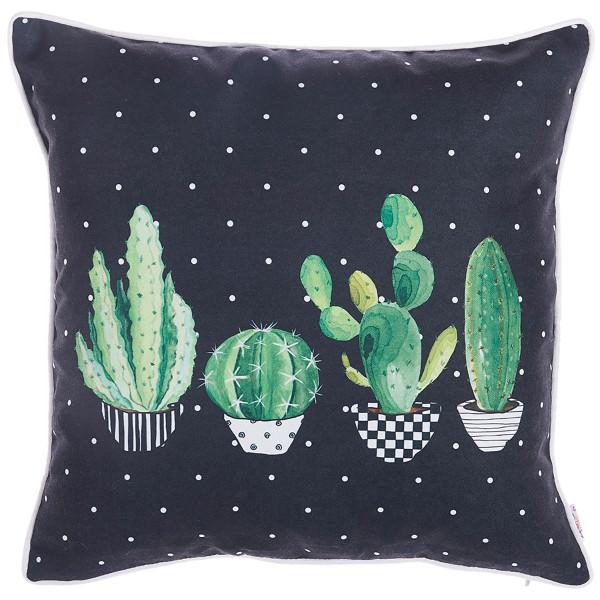 Διακοσμητική Μαξιλαροθήκη (43x43) Apolena Cactus Black 702-6215/1