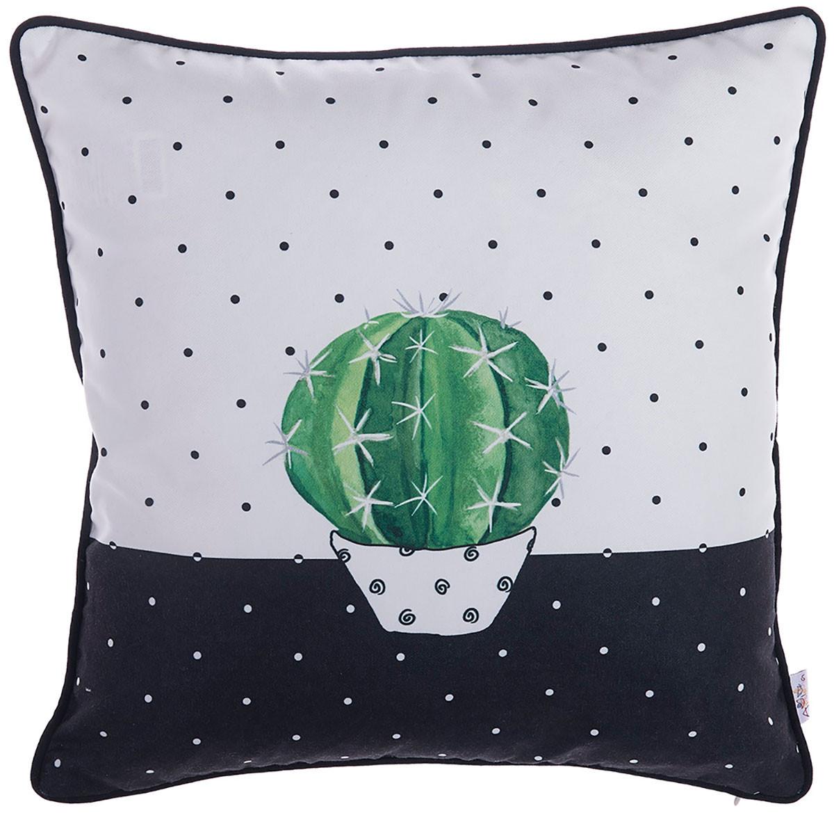 Διακοσμητική Μαξιλαροθήκη (43×43) Apolena Cactus White 702-6218/1
