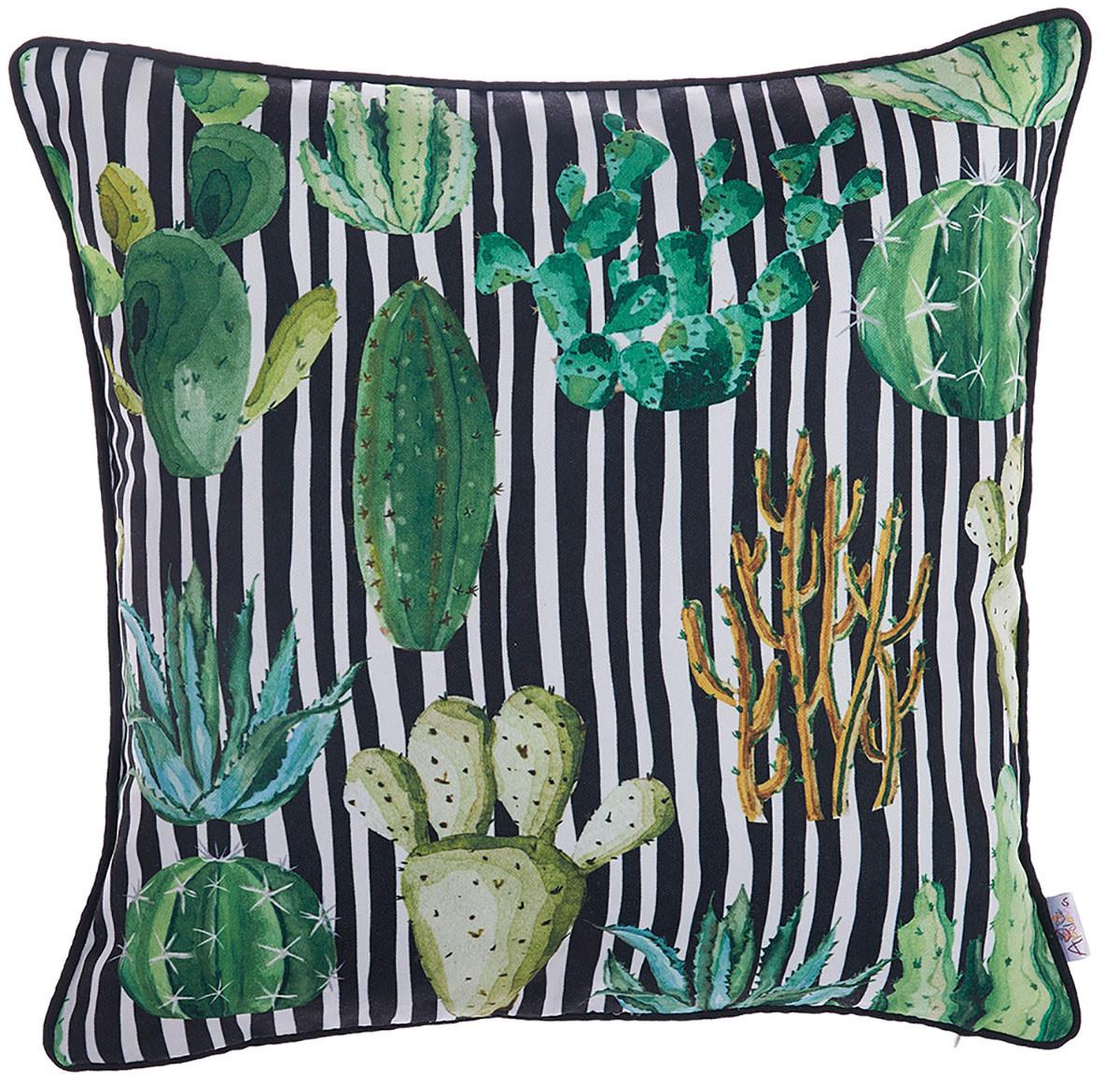 Διακοσμητική Μαξιλαροθήκη Apolena Cactus Black 702-6224/1