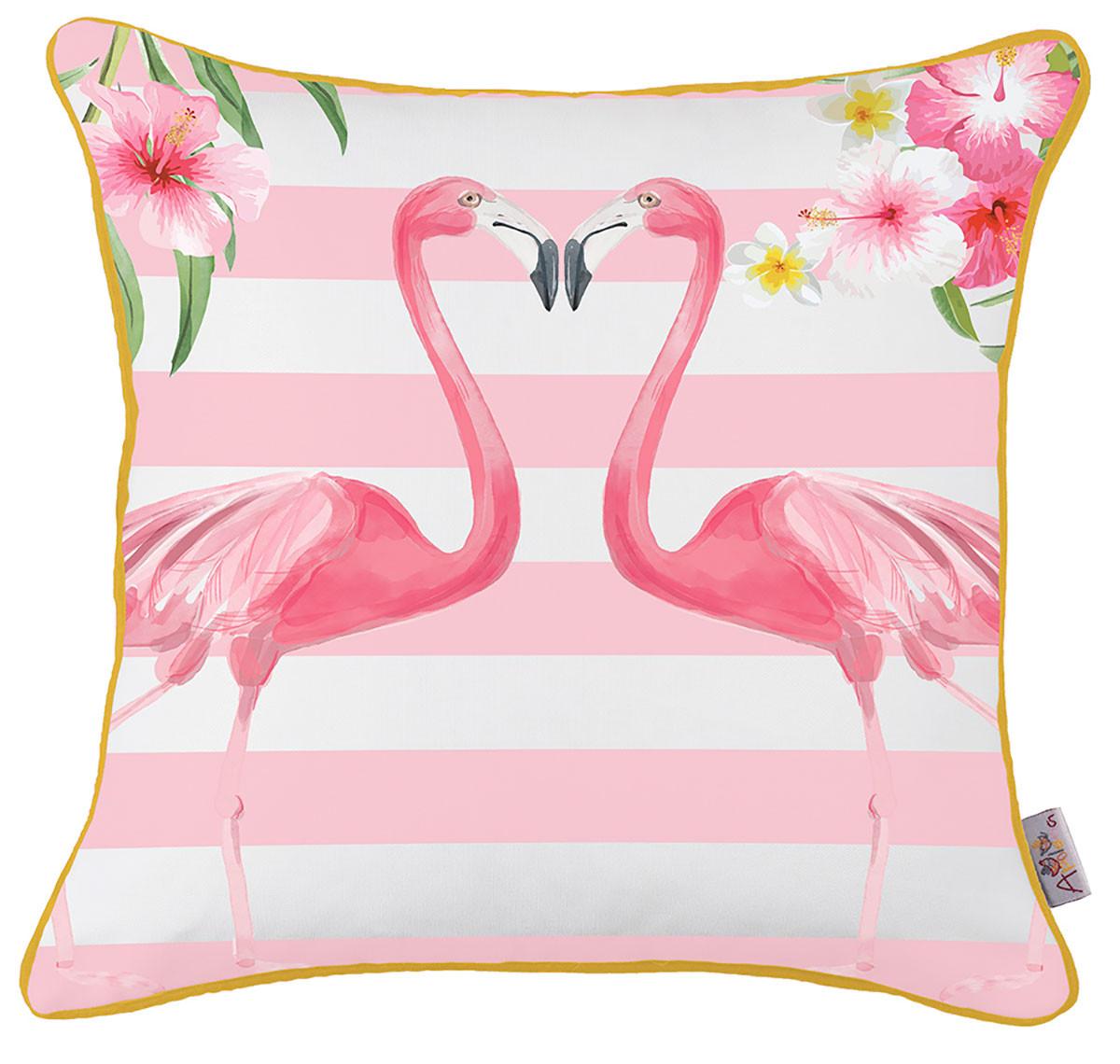 Διακοσμητική Μαξιλαροθήκη Apolena Flamingo Rose 702-5892/1