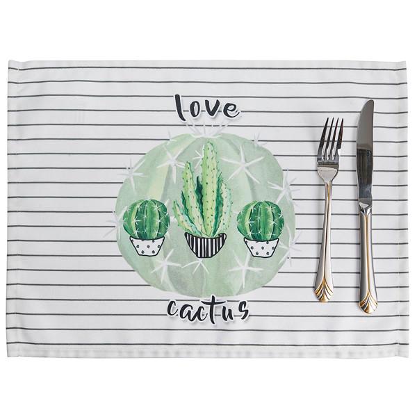 Σουπλά (Σετ 2τμχ) Apolena Cactus White 790-6214/1