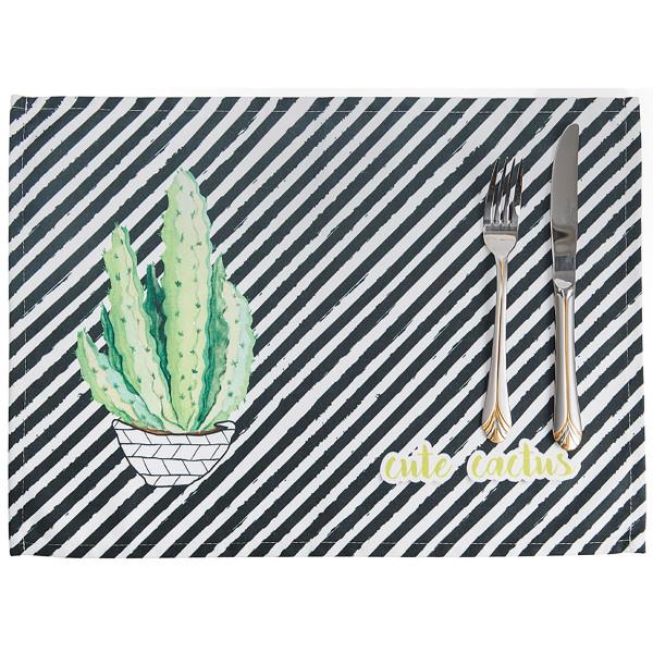 Σουπλά (Σετ 2τμχ) Apolena Cactus White 790-6213/1