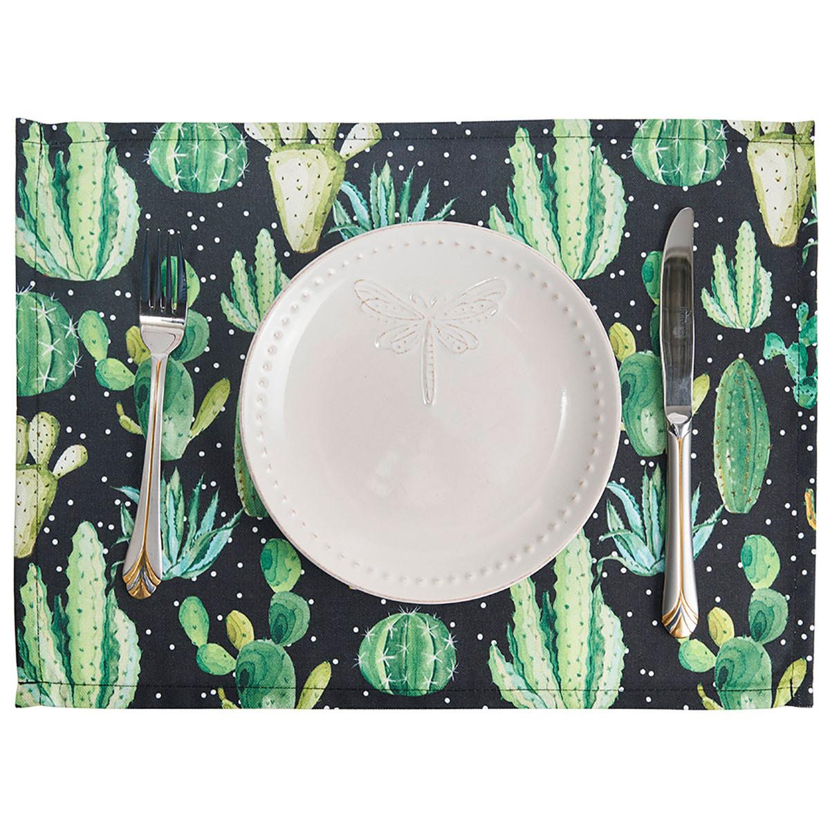 Σουπλά (Σετ 2τμχ) Apolena Cactus Black 790-6211/1