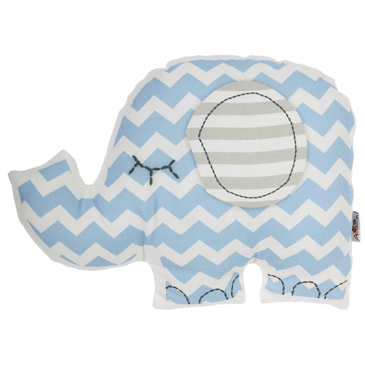 Διακοσμητικό Μαξιλάρι (34×24) Apolena Ελέφαντας Γαλάζιο