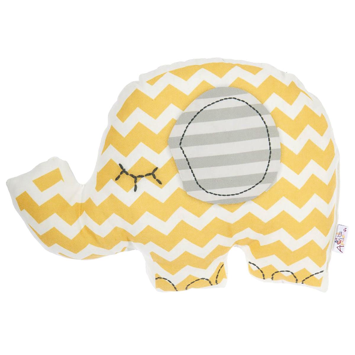 Διακοσμητικό Μαξιλάρι Apolena Ελέφαντας Κίτρινο