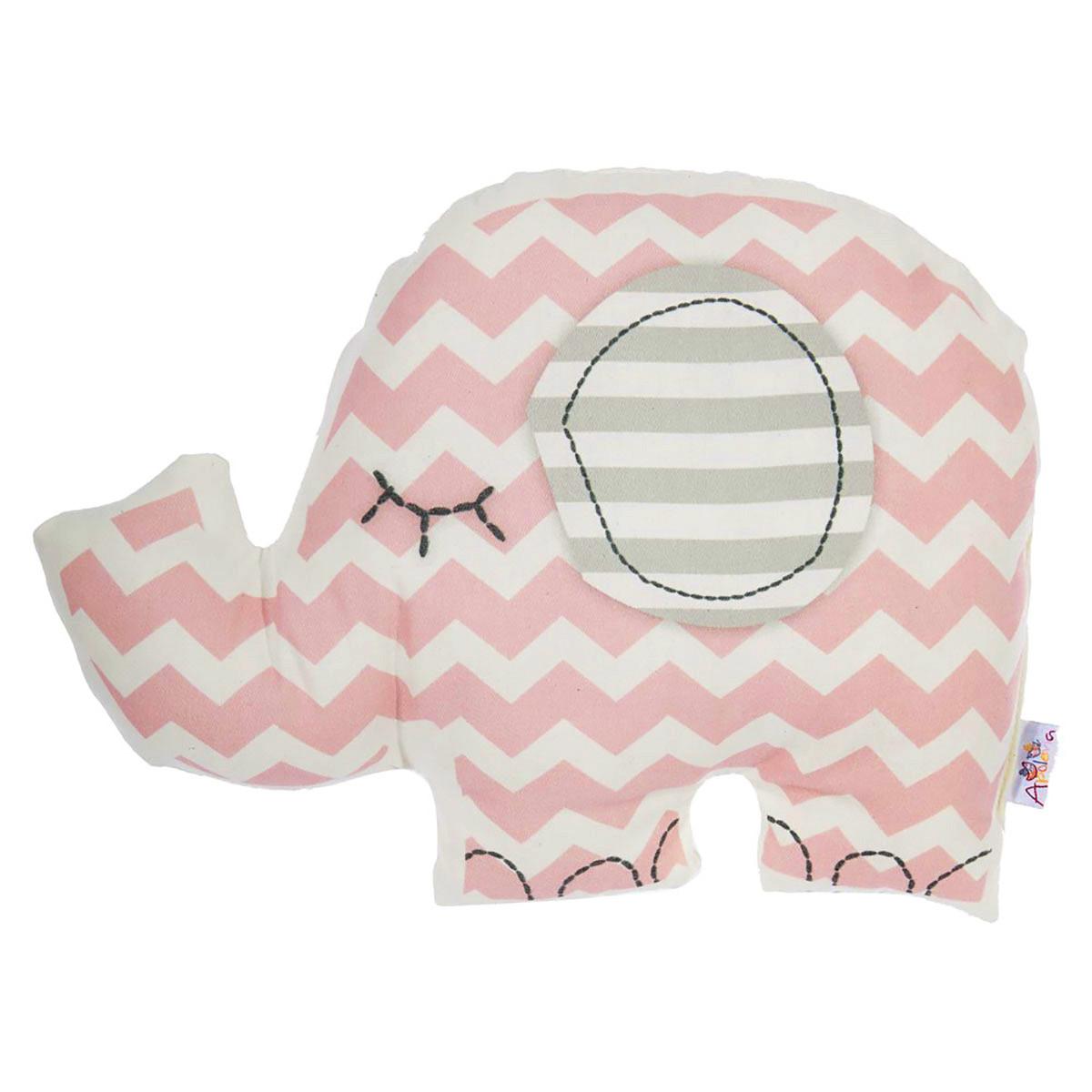 Διακοσμητικό Μαξιλάρι (34×24) Apolena Ελέφαντας Ροζ