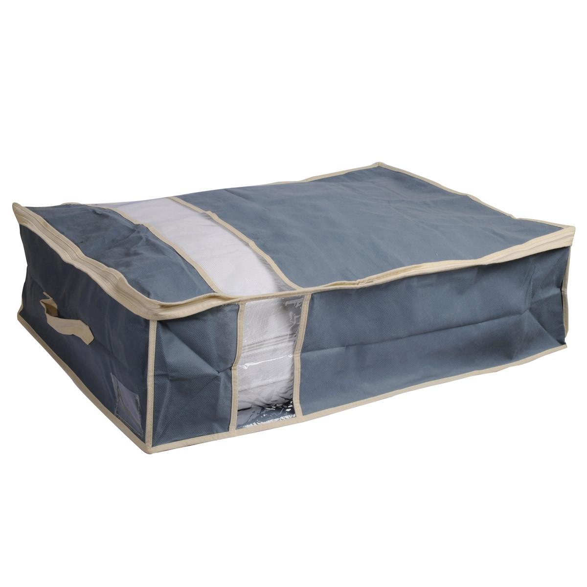 Θήκη Φύλαξης (50x70x20) εstia 03-3456 Grey home   κρεβατοκάμαρα   οργάνωση ντουλάπας