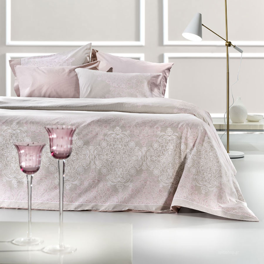 Σεντόνια Υπέρδιπλα (Σετ) Guy Laroche Ritz Old Pink