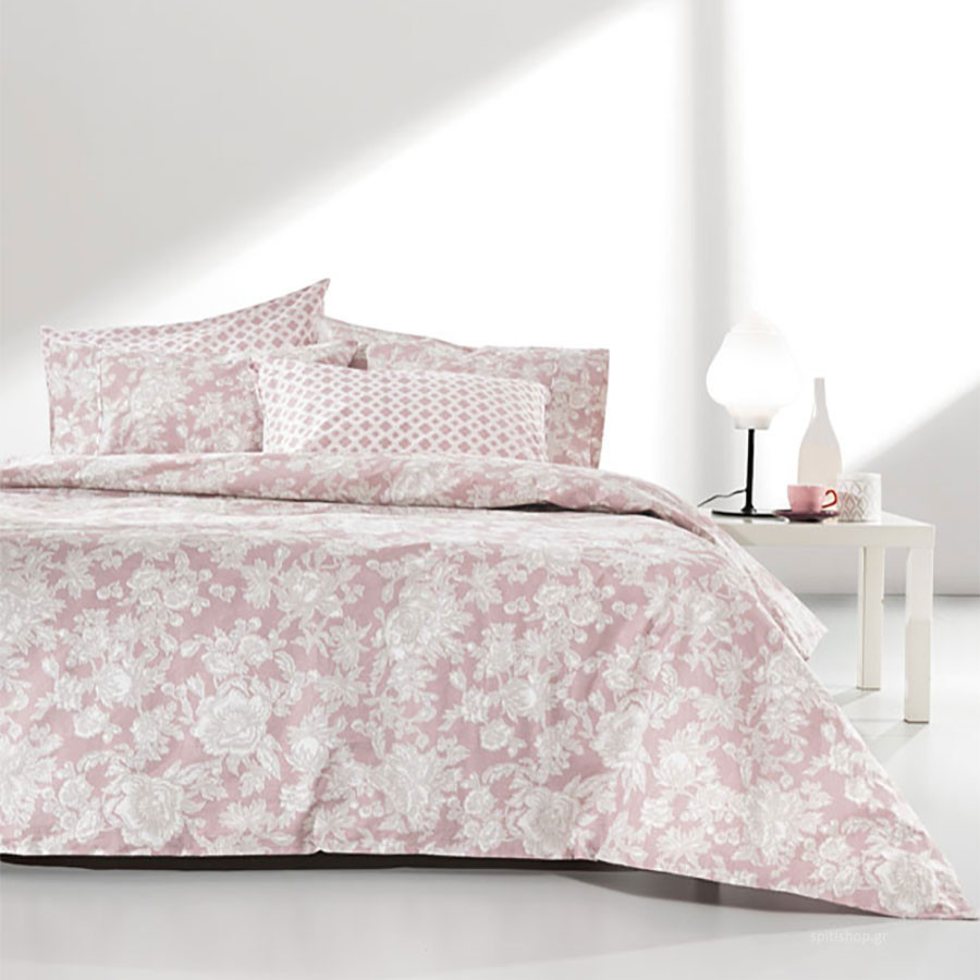 Σεντόνια King Size (Σετ) Guy Laroche Sylvie Old Pink