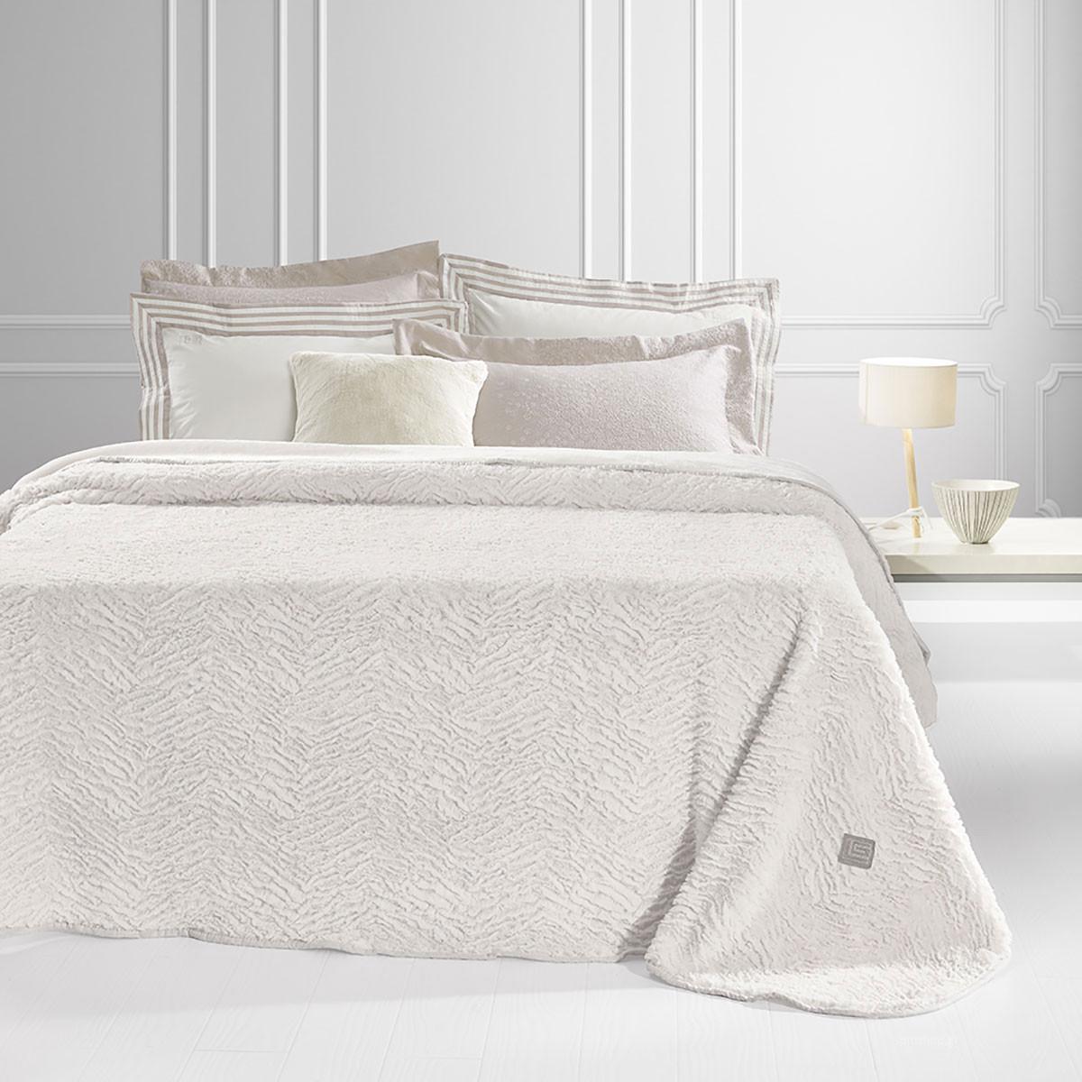 Κουβέρτα Γούνινη Υπέρδιπλη Guy Laroche Nordic Sand home   κρεβατοκάμαρα   κουβέρτες   κουβέρτες γούνινες   μάλλινες