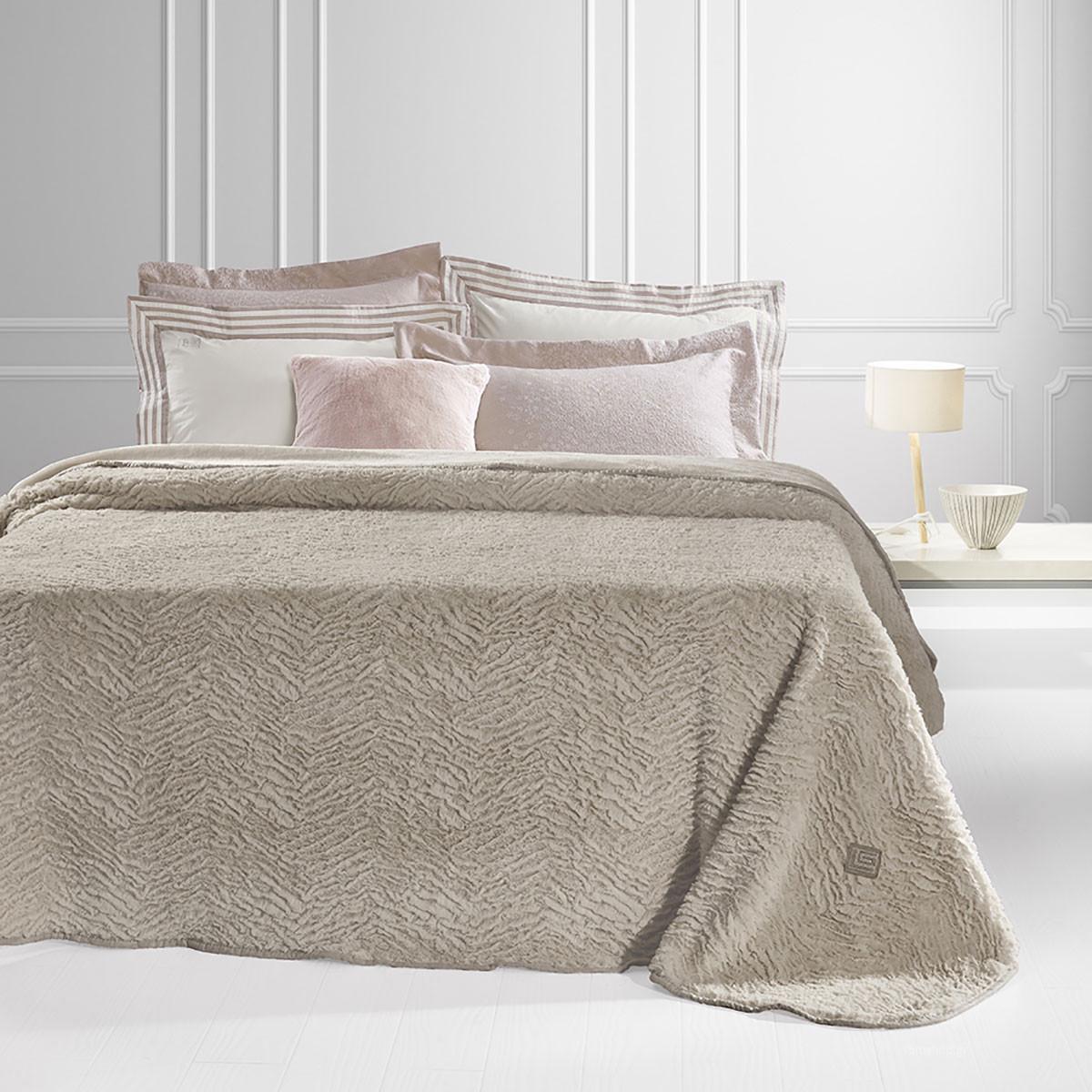 Κουβέρτα Γούνινη Υπέρδιπλη Guy Laroche Nordic Camel home   κρεβατοκάμαρα   κουβέρτες   κουβέρτες γούνινες   μάλλινες
