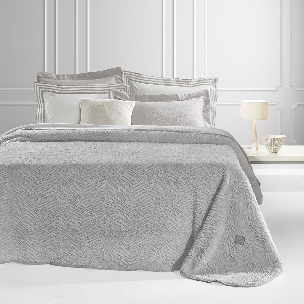 Κουβέρτα Γούνινη Υπέρδιπλη Guy Laroche Nordic Silver home   κρεβατοκάμαρα   κουβέρτες   κουβέρτες γούνινες   μάλλινες