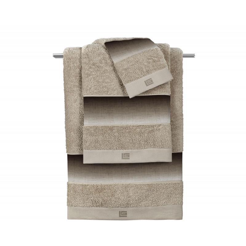 Πετσέτες Μπάνιου (Σετ 3τμχ) Guy Laroche Mykonos Beige