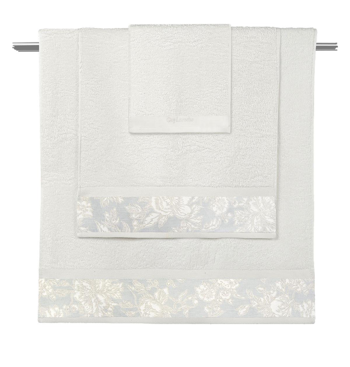 Πετσέτες Μπάνιου (Σετ 3τμχ) Guy Laroche Sylvie Ivory/Pastel Blue