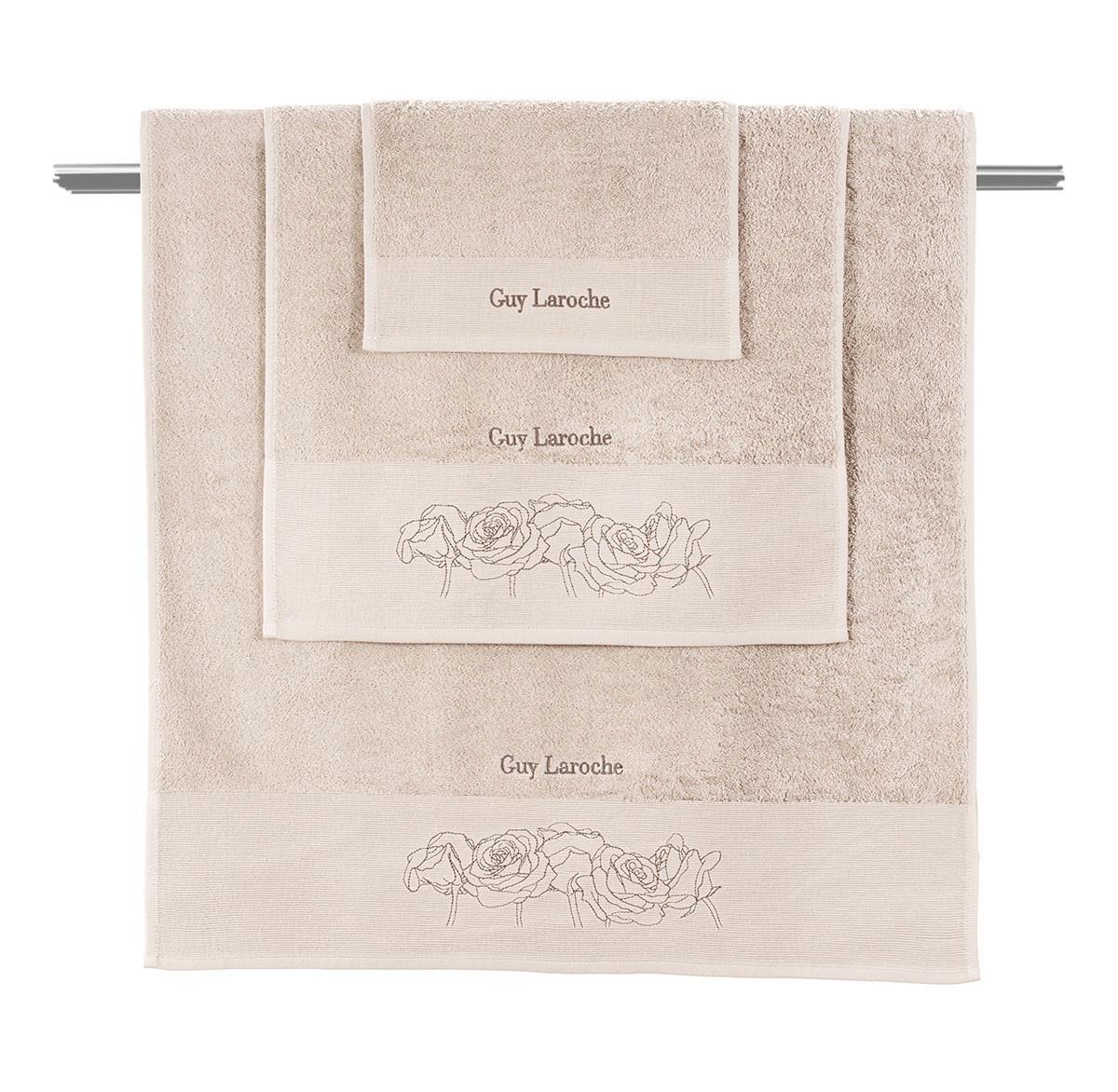 Πετσέτες Μπάνιου (Σετ 3τμχ) Guy Laroche Lady Old Pink