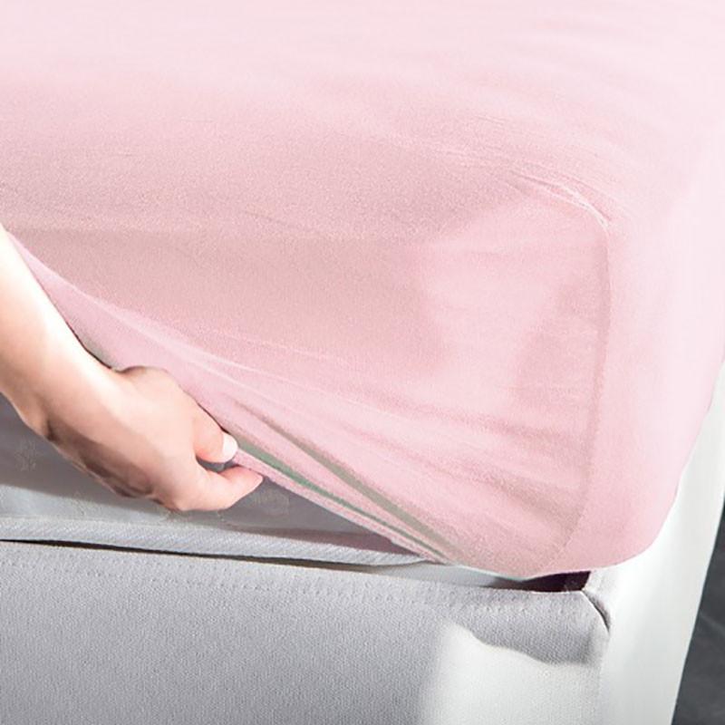 Σεντόνι Μακό Υπέρδιπλο Με Λάστιχο La Luna Jersey Pink