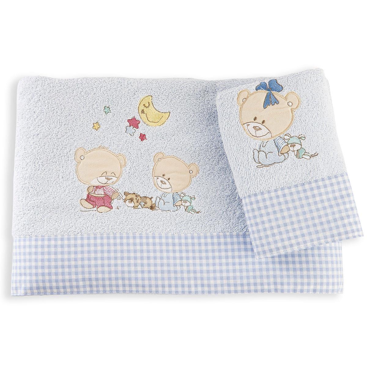 Βρεφικές Πετσέτες (Σετ 2τμχ) Dim Collection Happy Bears 19