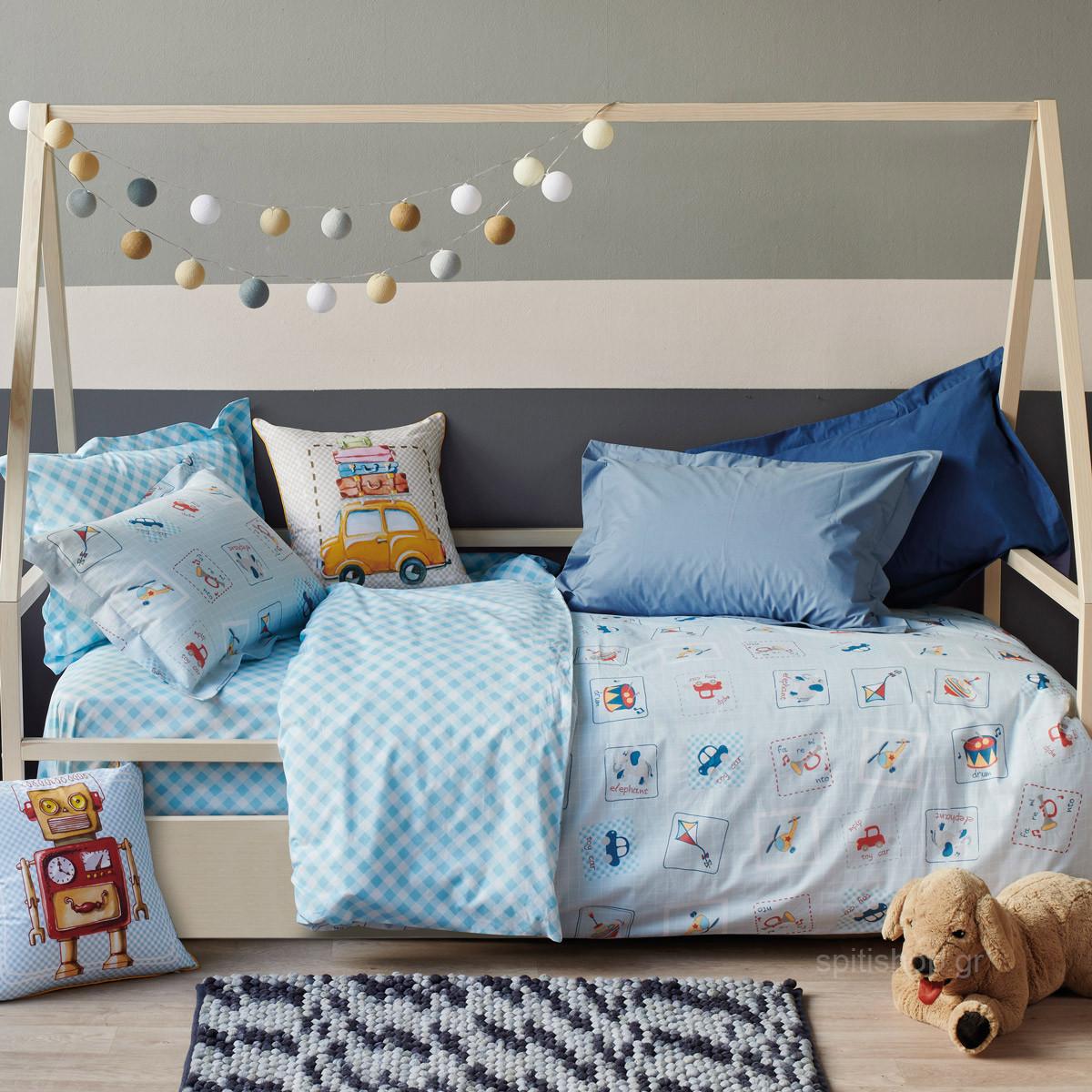 Παπλωματοθήκη Μονή (Σετ) Kentia Kids Twister home   παιδικά   παπλωματοθήκες παιδικές