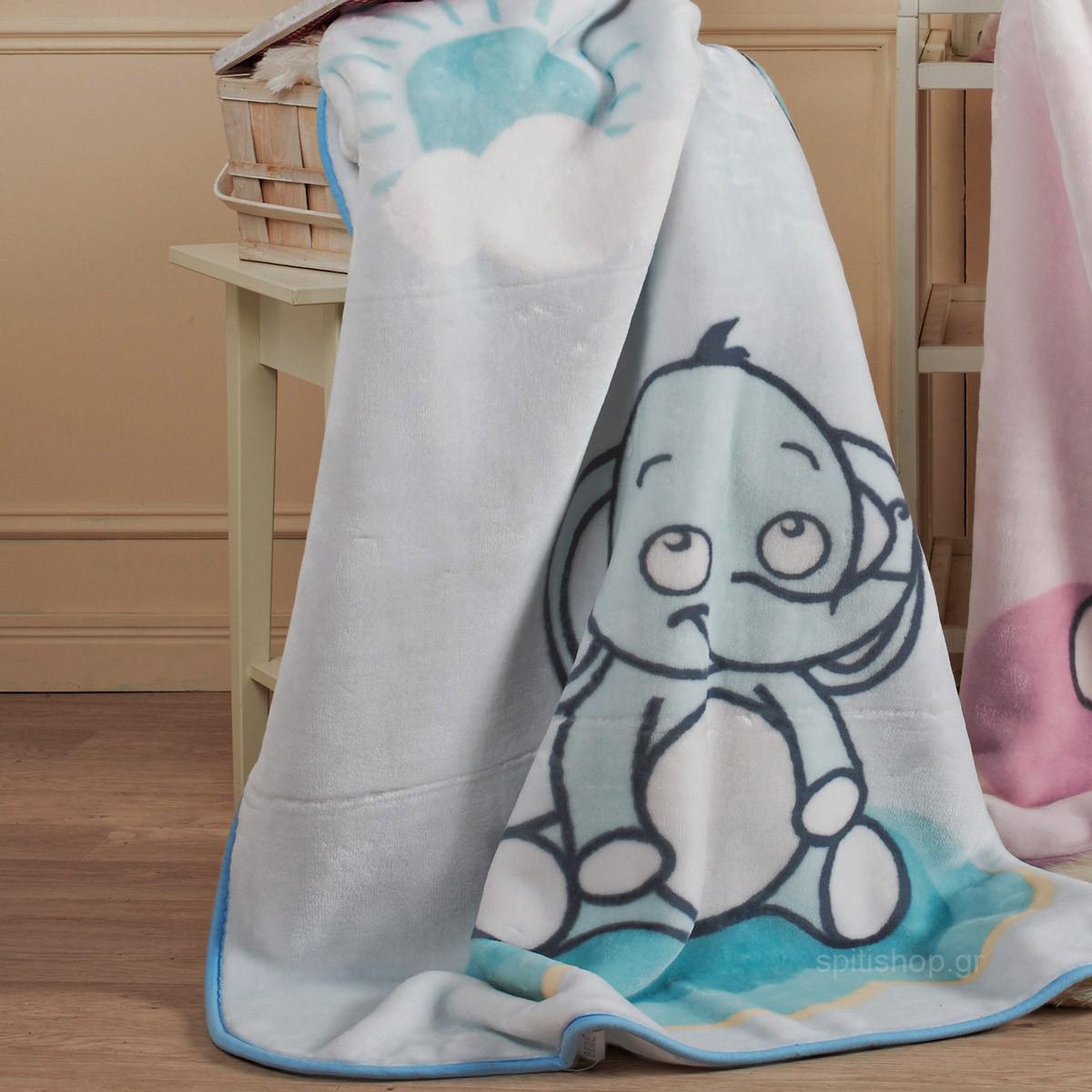 Κουβέρτα Βελουτέ Κούνιας Kentia Baby Lazy 19