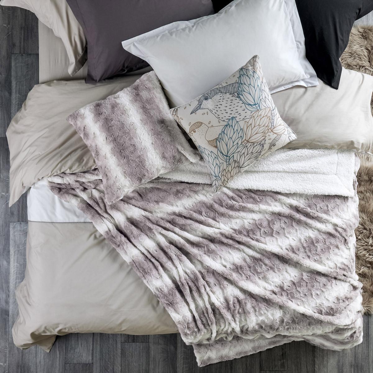 Κουβέρτα Fleece Υπέρδιπλη Kentia Stylish Warmy 183