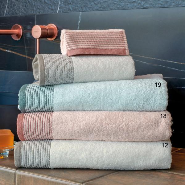 Πετσέτες Μπάνιου (Σετ 3τμχ) Kentia Bath Savenna