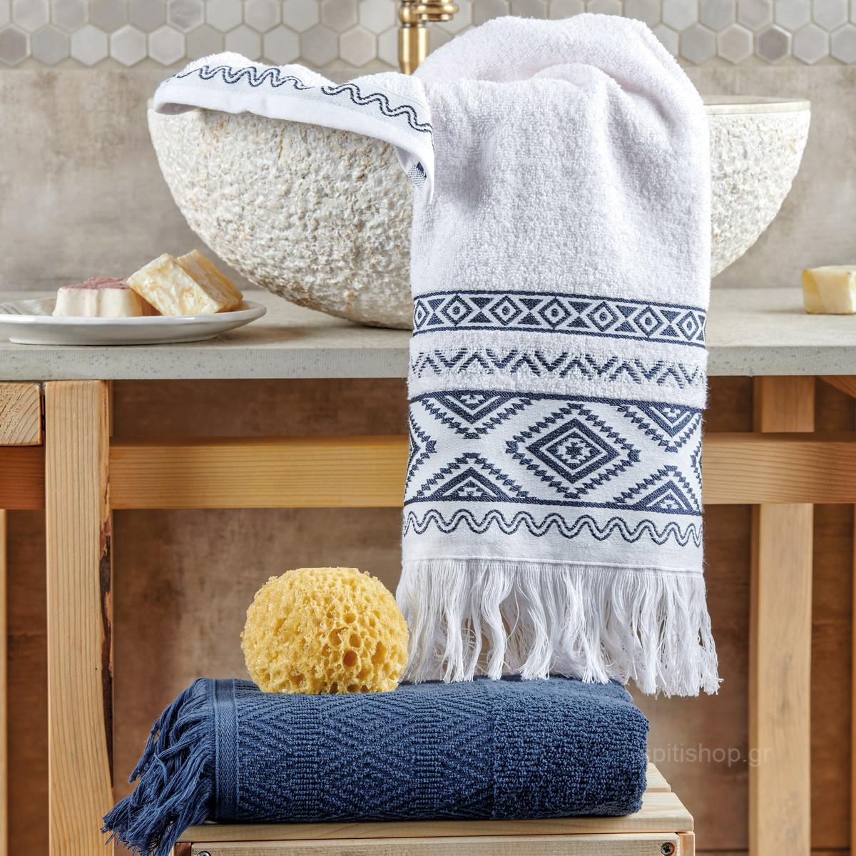 Πετσέτες Προσώπου (Σετ 2τμχ) Kentia Bath Brenda 01