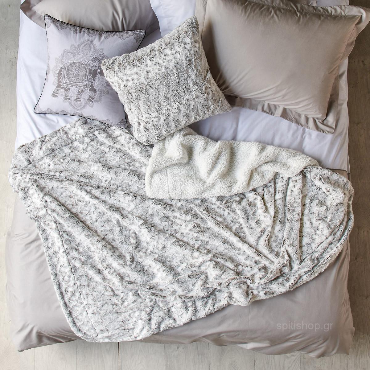 Κουβέρτα Fleece Υπέρδιπλη Kentia Stylish Warmy 186