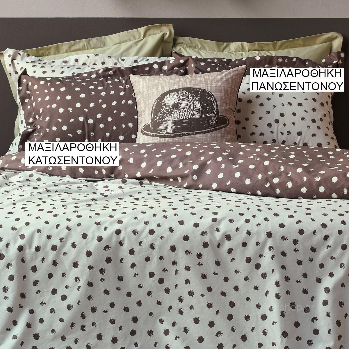 Ζεύγος Μαξιλαροθήκες Oxford Kentia Versus Flakes 10 home   κρεβατοκάμαρα   μαξιλάρια   μαξιλαροθήκες