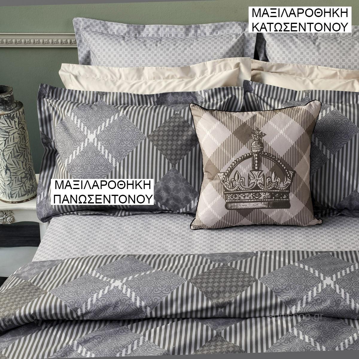 Ζεύγος Μαξιλαροθήκες Oxford Kentia Loft Figaro 01 home   κρεβατοκάμαρα   μαξιλάρια   μαξιλαροθήκες