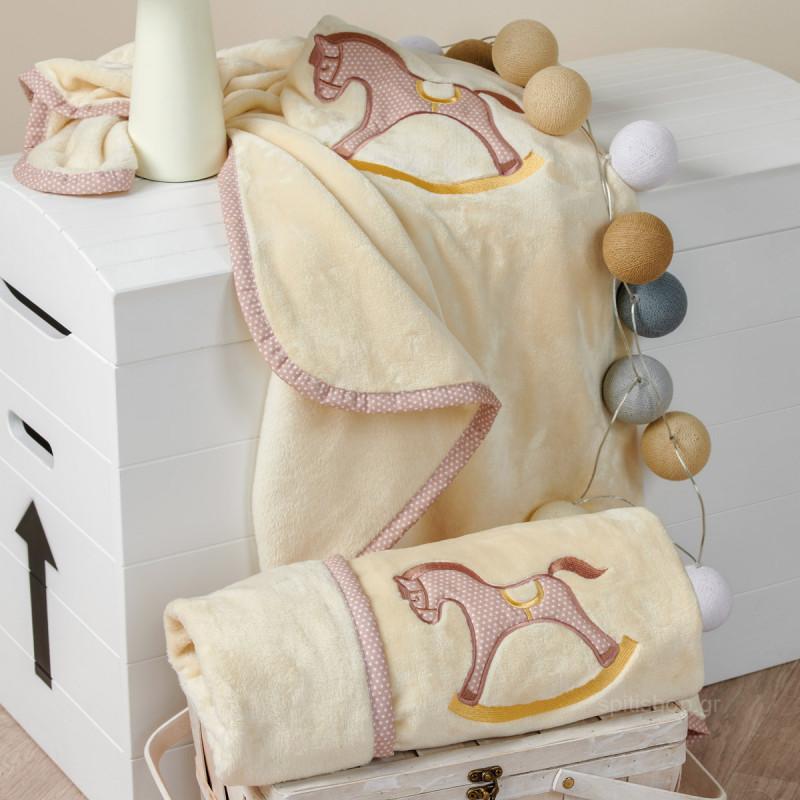 Κουβέρτα Βελουτέ Κούνιας Kentia Baby Carousel